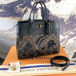 Louis Vuitton Blossom City Steamer MM LeatherTote